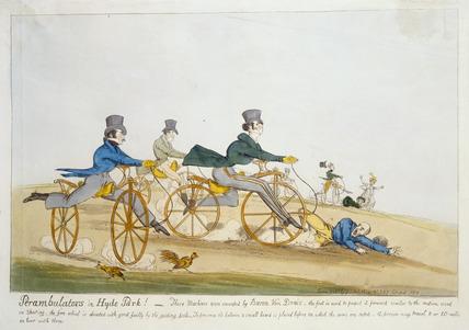 Perambulators in Hyde Park !: 1819
