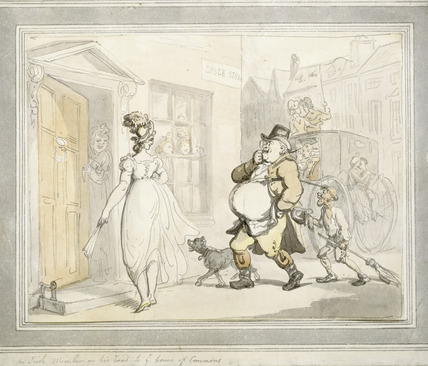An Irish member on his way to ye house of Commons: 1801