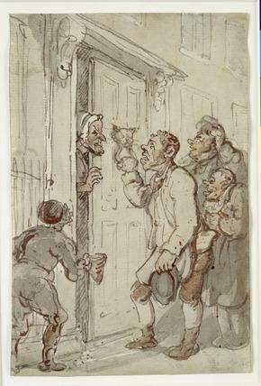 Calling for a Chrismas Box: 19th century