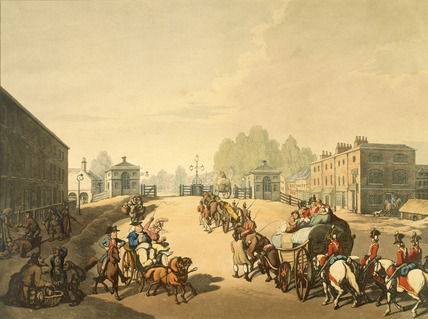 Entrance from Mile End or Whitechapel Turnpike: 1798