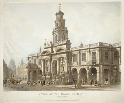 A View of the Royal Exchange, Cornhill: 1816