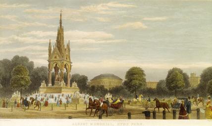 Albert Memorial, Hyde Park: 1869
