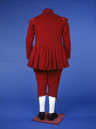 Waterman's uniform, back view: 19th century