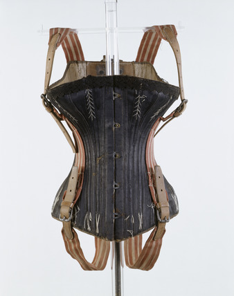 Acrobatic flying corset, front view: 19th century