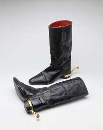 Pair of Wellington boots: 19th century