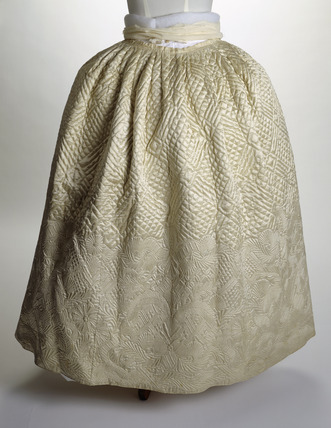 White underskirt or petticoat: 18th century