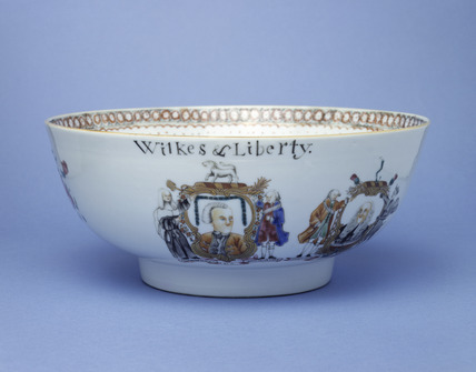 Wilkes & Liberty punch bowl: 18th century