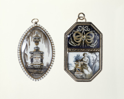 Mourning pendants: 18th century