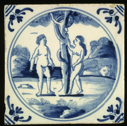 Decorated tile: 18th century