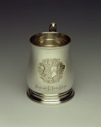 Beefsteak tankard: 18th century