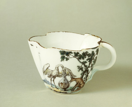 Chelsea porcelain jug: 1752