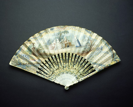 Dutch paper fan: 18th century