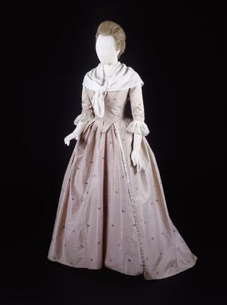 Dress ensemble, front view: 18th century