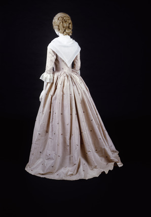Dress ensemble, back view: 18th century