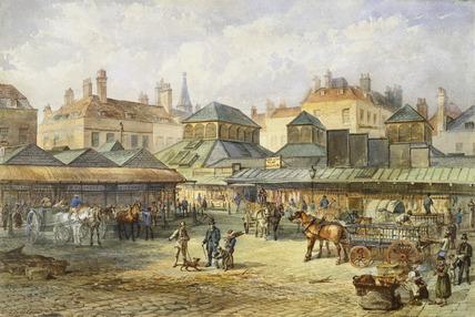 Newgate Market: 19th century