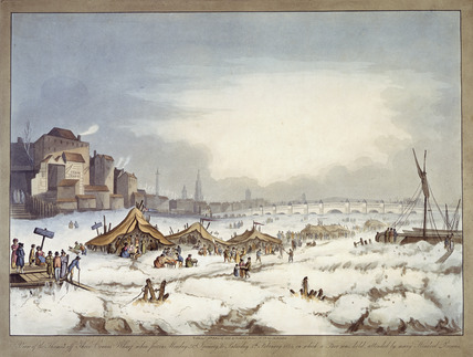 Frost fair on the River Thames: 1814