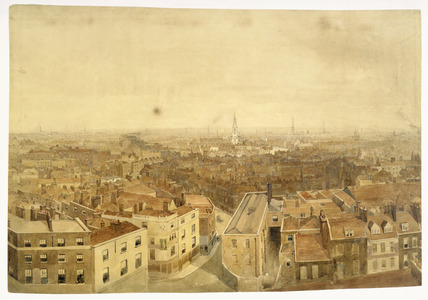 Rooftop view looking east towards Clerkenwell: 1845