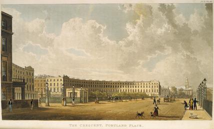 The Crescent, Portland Place: 1822