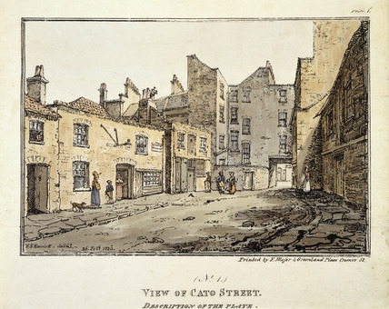 View of Cato Street (No.1): 1820