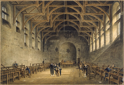 The Schoolroom at Westminster School: 1832