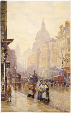 Two Flower Sellers in Cannon Street near Walbrook: 1839