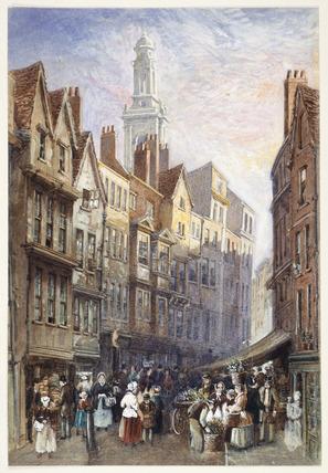 Holywell Street, Strand: 19th century