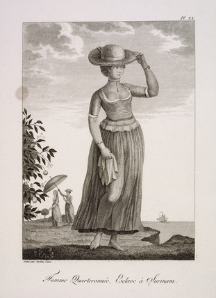 Pl. XX Femme Quarteronnée, Esclave à Surinam: 18th century
