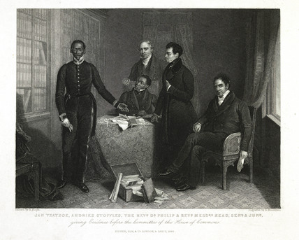 Jan Tzatzoe, Andries Stoffles, The Revd Dr Philip & Revd Messrs Read Senr & Junr Giving Evidence before the Committee of the House of Commons: 1844