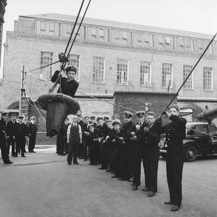 Cadet training at the London Nautical School, Broadwall: 1956