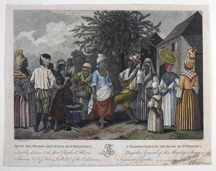 'A Negroes Dance in the Island of St Dominica': 18th century