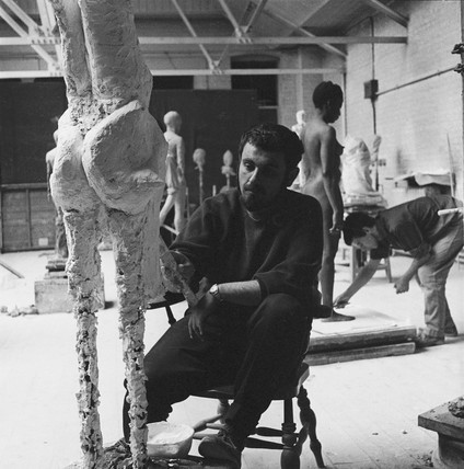 Sculpture studio, Slade School of Fine Art: 1960