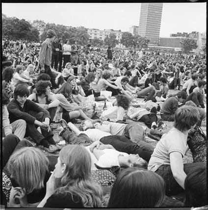 Summer music festival in Hyde Park: 1970