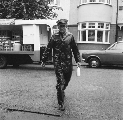 A milkman doing his rounds: 1976