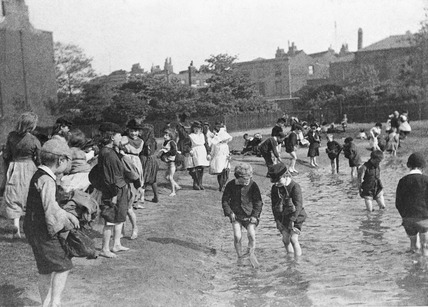 Children paddling in Archbishop's Park, Lambeth c.1894