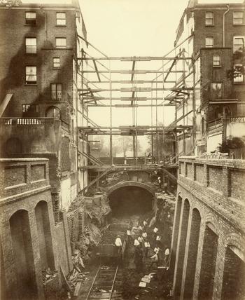 Construction of District Line underground railway: 19th century