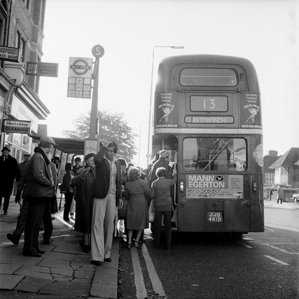The No 13 bus near Golders Green: 1979