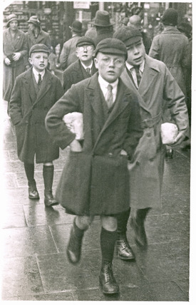 School boys in Sutton High Street: 20th century