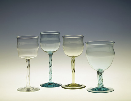 Selection of wine glasses: late19th-early 20th century
