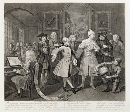 A Rake's Progress - plate II: 1735