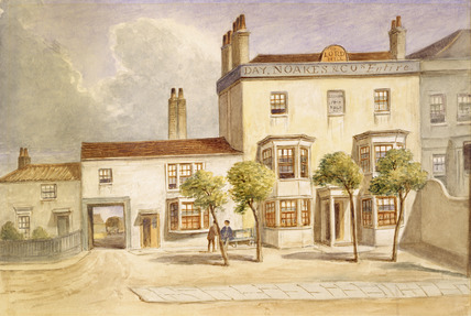 Exterior view of the Lord Hill Inn: 1871