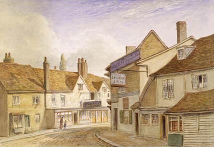 Exterior of the George Inn: 1850