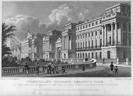 Cumberland Terrace, Regent's Park: 1827