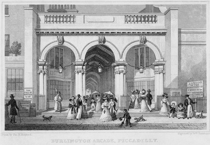 Burlington Arcade, Piccadilly: 1828