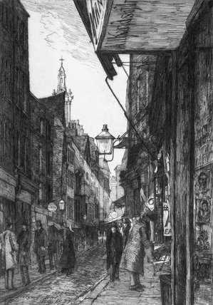 Booksellers Row, Holywell Street, Aldwych: 1877