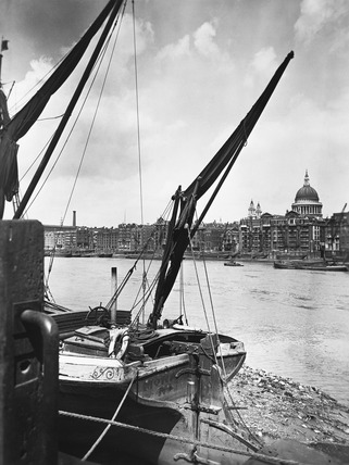 Thames river view with St Paul's: 20th century