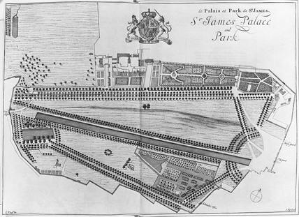 St James's Park plan: 1872