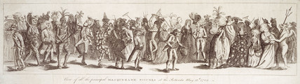 View of all the principal masquerade figures at the Rotunda, May 12th 1789