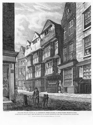 Ship Yard, Temple Bar: 1815