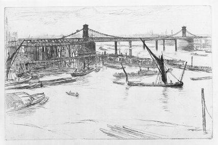 Old Hungerford Bridge: 1861