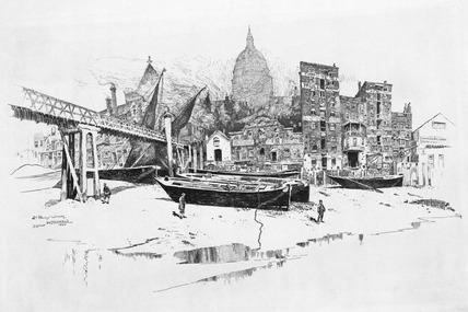 St. Paul's Wharf: 1884
